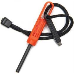 Exotac Fire Starters 1600ORG Waterproof Orange And Gray Polystriker Firestarter