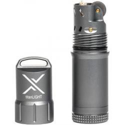 Exotac Fire Starters 5500GUN Gray titanLIGhT Refillable Lighter with Aluminum Construction