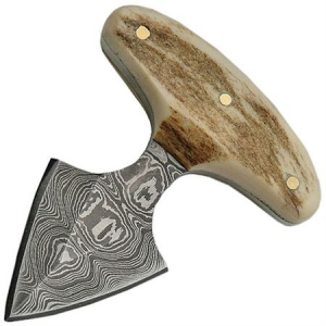 Damascus 1119 Damascus Push Dagger Knife with Stag Handle