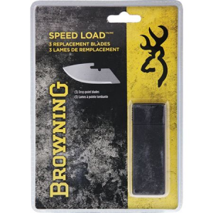 Browning 0115D Speed Load Drop Point Replacement Fixed Blade Knife – Pack of 3 Piece