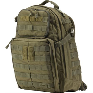 5.11 Tactical 58601OD Rush 24 Backpack Tactical OD Water Resistant Nylon Construction