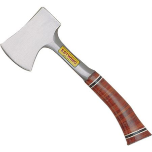 Estwing 14A Sportsmans Camping Axe with Laminated Leather Grip Handle