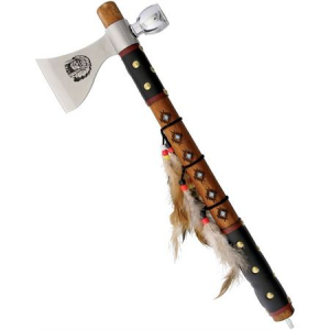 Frost 19602 Tomahawk Axe with Leather Wrapped Wood Handle