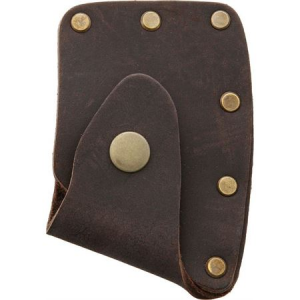 Prandi 706004 Axe Blade Cover with Brown Leather Sheath