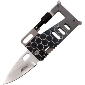 MTech 989GY Multi Tool Knife with Black and Gray Anodized Aluminum Handle