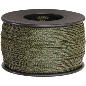 Parachute Cords 1113 Nano Cord Woodland Camo Braided Premium Nylon Sport and Tie Cord
