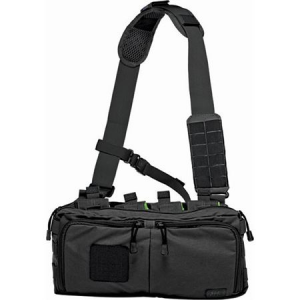 5.11 Tactical 56181 4 Self Healing Zippers Banger Bag Black with Nylon Construction