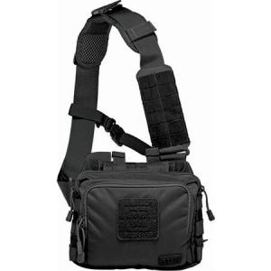 5.11 Tactical 56180 2 Self Healing Zippers Banger Bag Black with Nylon Construction