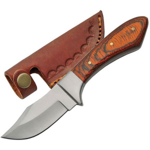 Pakistan 7998 Fixed Blade Knife with Brown Pakkawood Handle