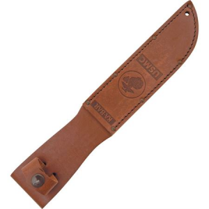 Ka-Bar 1217S Usmc Fighting Fixed Blade Knife Sheath with Brown Leather Belt