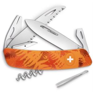 Swiza Pocket 902060 TT05 Tick Multi-Tool Knife with Orange Fern Synthetic Handle