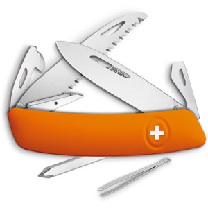 Swiza Pocket 601060 D06 Swiss Pocket Multi-Tool Knife with Orange Synthetic Handle