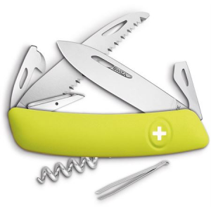 Swiza Pocket 501080 D05 Swiss Pocket Multi-Tool Knife with Yellow Synthetic Handle
