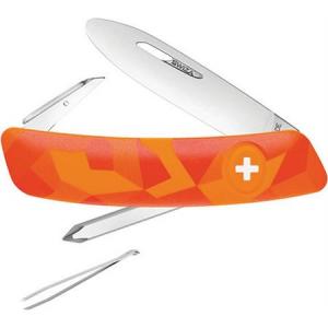 Swiza Pocket 212071 J02 Junior Pocket Multi-Tool Knife with Urban Orange Synthetic Handle