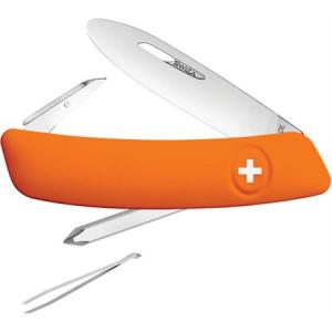 Swiza Pocket 211061 J02 Junior Pocket Multi-Tool Knife with Orange Synthetic Handle