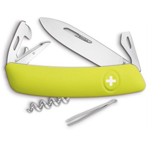 Swiza Pocket 301080 D03 Swiss Pocket Multi-Tool Knife with Yellow Synthetic Handle