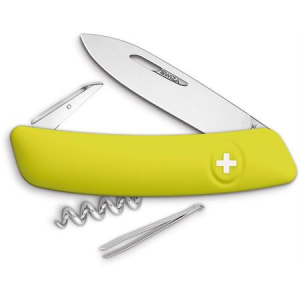 Swiza Pocket 101080 D01 Swiss Pocket Multi-Tool Knife with Yellow Synthetic Handle