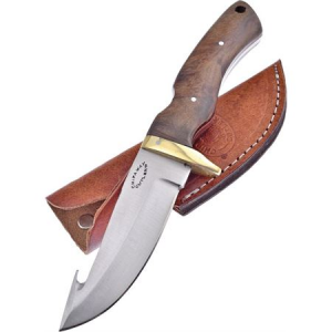 Frost CW013WW Guthook Skinner Knife with Walnut Handle