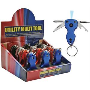 China Made 211185 Utility Assortment Multi-Tools with White LED Aluminum Handle