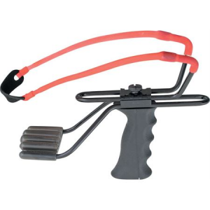 Marksman 3060LF Laserhawk III Adjustable Slingshot with Black High Impact Plastic Finger Groove Handle