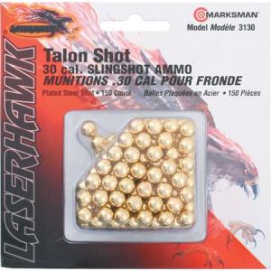 Marksman 3130 150 Count 30 Caliber Slingshot Ammo Plated Steel Laserhawk Talon Shot