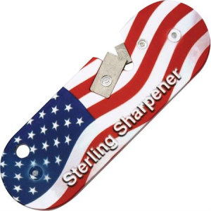 Sterling USA Compact Knife Sharpener with USA Flag Finish Lightweight Aluminum Body