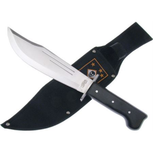 Frost 18418 Carson's Raiders Bowie Fixed Blade Knife with Black Pakkawood Handle