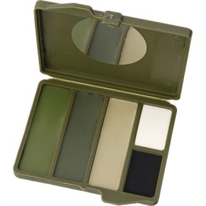 Camouflage Face Paint 4500 Woodland 5 Color Compact