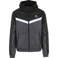 Reebok Striped Fleece Lined Windbreaker Jacket