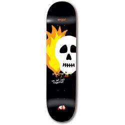 Enjoi Skulls And Flames Skateboard Deck