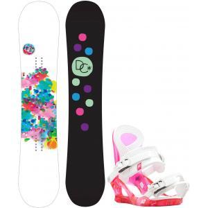 DC Biddy Camber Snowboard w/ K2 Cassette Bindings