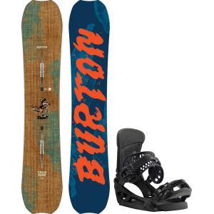 Burton Trick Pony Snowboard w/ Malavita EST Bindings