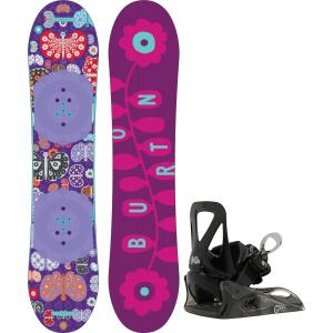 Burton Chicklet Snowboard w/ Grom Bindings
