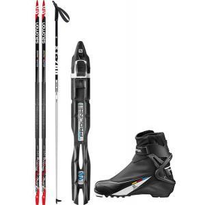 Salomon Equipe 7 Skate XC Complete Ski Package + Poles