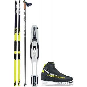Fischer Twin Skin Pro IFP XC Complete Ski Package + Poles