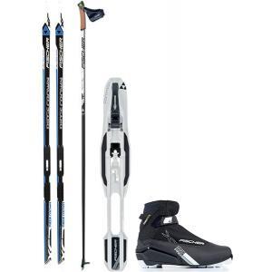 Fischer Ridge Crown IFP XC Complete Ski Package + Poles