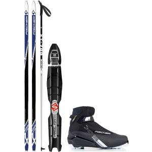 Fischer Summit Crown XC Complete Ski Package + Poles