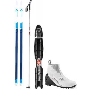 Fischer Spirit Crown My Style XC Complete Ski Package + Poles