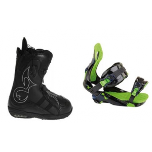Image of Burton Iroc Snowboard Boots with Rossignol Justice Snowboard Bindings