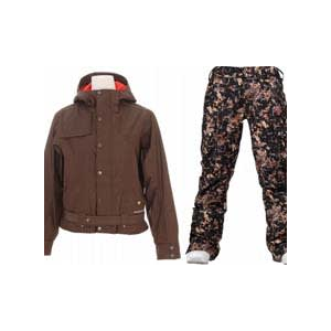 Image of Burton After Hours Jacket Roasted Brown w/ Burton Lucky Pants