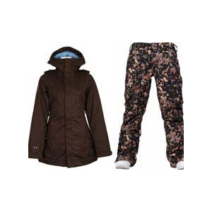 Image of Burton TWC Weekend Jacket Mocha w/ Burton Lucky Pants