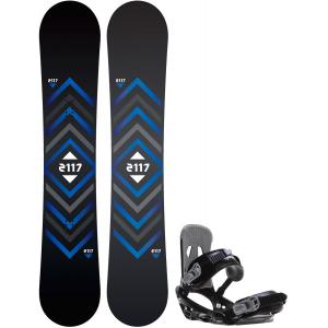 Image of 2117 Berg Snowboard w/ Sapient Stash Bindings