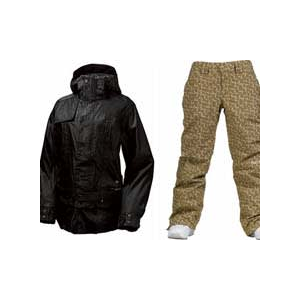 Image of Burton After Hours Jacket True Black w/ Burton Society Pants