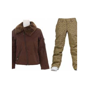 Image of Burton B By Burton Roosevelt Bomber Jacket Roasted Brown w/ Burton Society Pants Doodle Print Capers