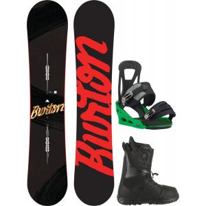 Image of Burton Ripcord Wide Snowboard w/ Moto LTD Boots & Freestyle Re:Flex Bindings
