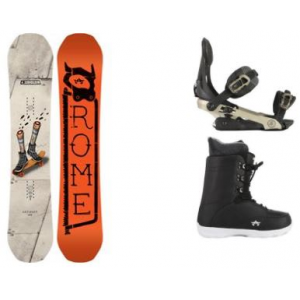 Image of Rome Artifact Snowboard w/ Arsenal Bindings & Smith SE Boots