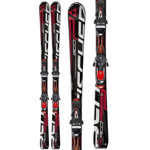 Fischer Progressor 800 Powerrail Skis w Rsx 12 Powerrail Bindings WhiteBlackRed