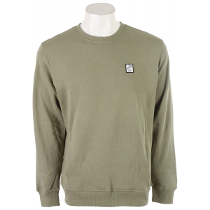 RVCA Shaka Patch Sweatshirt Oil Green