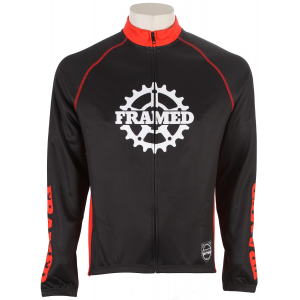 Framed Cog Bike Jacket Black/red