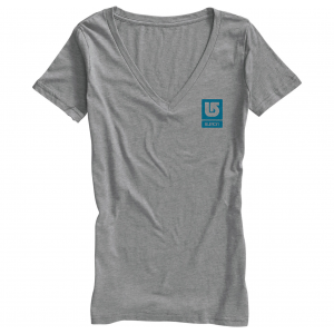 Burton Logo Vertical Fill Recycled Vneck T Shirt